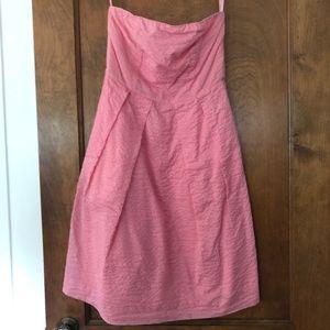 J.crew strapless pink dress